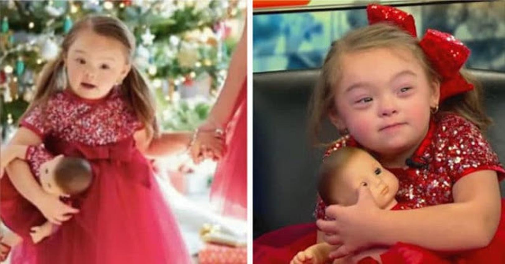 Menina com síndrome de Down se torna modelo de campanha de Natal