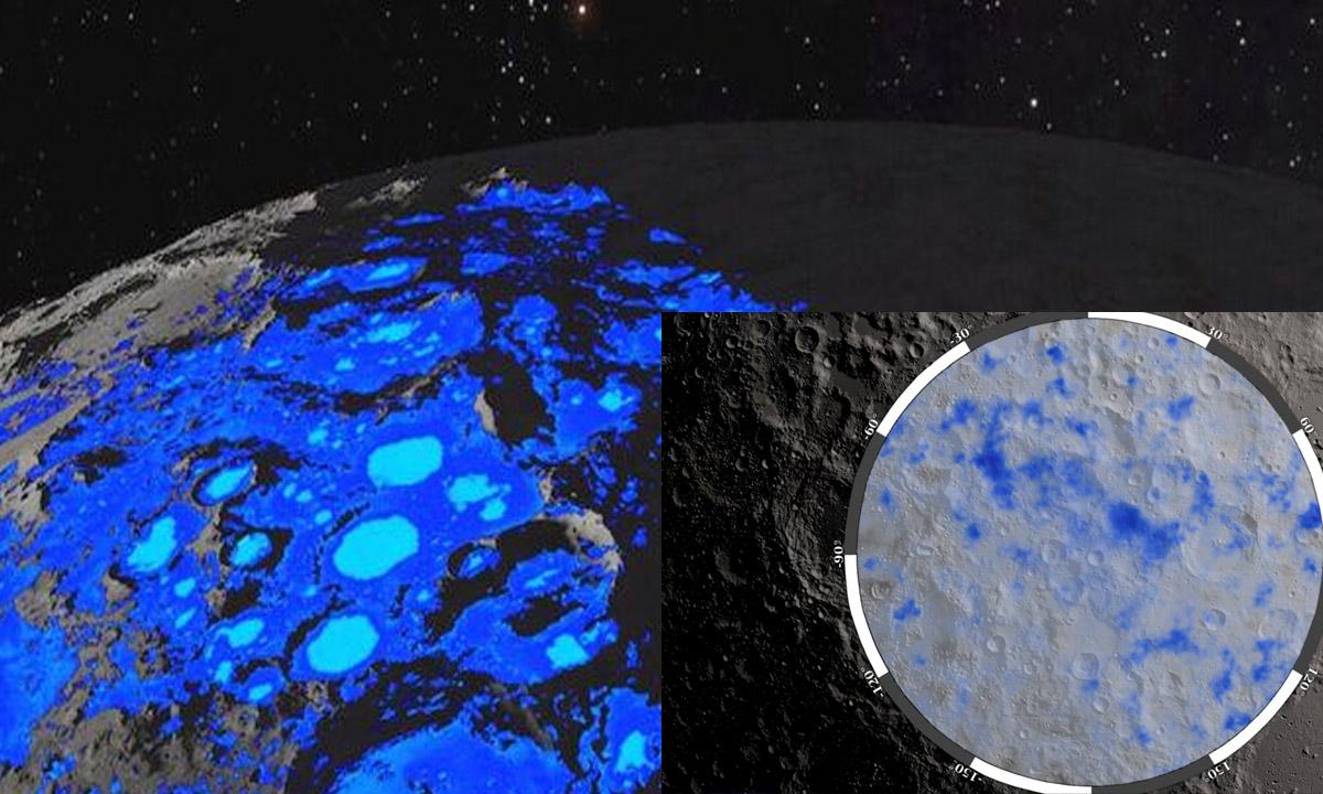 NASA confirma que há água na lua que os astronautas poderiam usar